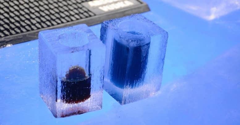 bebidas de hielo en el ice bar