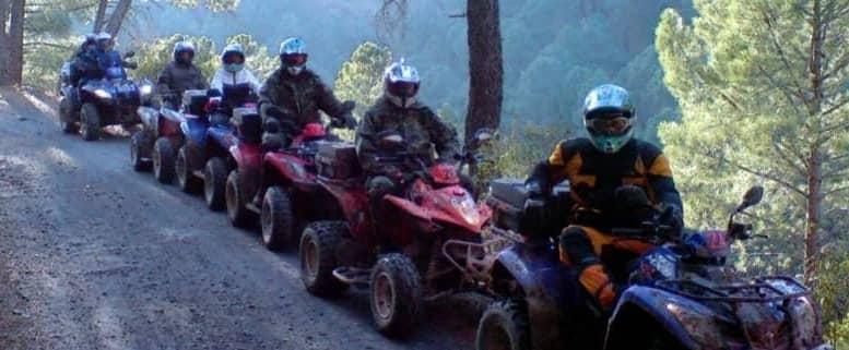ruta en quad a El Pontón